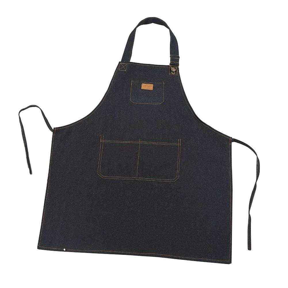 Black LvLoFit pi/ù Tasche Grembiule Durevole Jeans Tela Rilascio Rapido da Cuoco Cameriere Lavoro Barman Barista Barbecue Chef