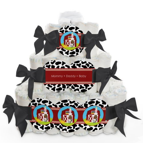 Barnyard Baby Diaper Cake (Baby Diaper Cake - Farm Animals - 3)