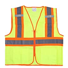 M-Egal Women Men Reflective Vest for Running Cycling with Front Pockets Biking Walking Mixed colors S-3XL