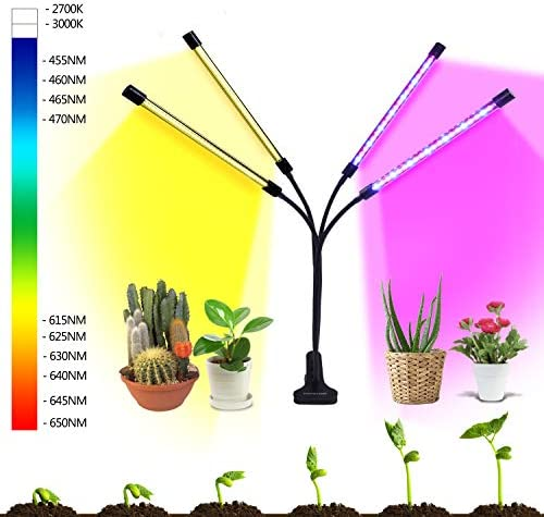 Grow Lights, HOHOTIME LED Plant Grow Lights Full Spectrum Plant Growing Lamps with 120 LEDs, Upgrade 10 Dimmable Levels with 3 9 12H Timer Grow Lights for Indoor Plants