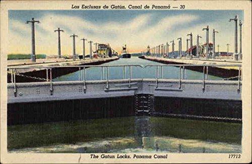 (The Gatun Locks Panama Canal, Panama Original Vintage Postcard)
