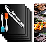 Garcent Non-Stick BBQ Grill Mat Set of 5, Barbeque Accessories for Cooking with Charcoal, Gas, Electric Grill, Reusable and Easy to Clean, PFOA Free, 15.75 x 13 Inch