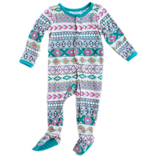 Baby Sleeper Newborn Footie Pajamas - Bamboo Clothing - Infant Girls - Girl Aztec - 0-3 Months by Kozi & Co - Kicky Pants Girl