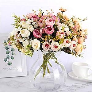 Rvbyjfg Daisy Camellia Artificial Flower Bridal Bouquet Christmas Party Wedding Decor 119