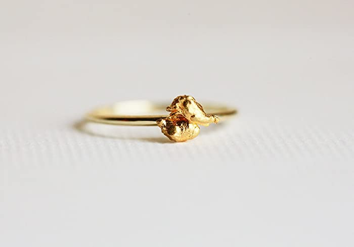 Amazon 24k Gold Ring Solid Gold Nug Ring Pure Gold