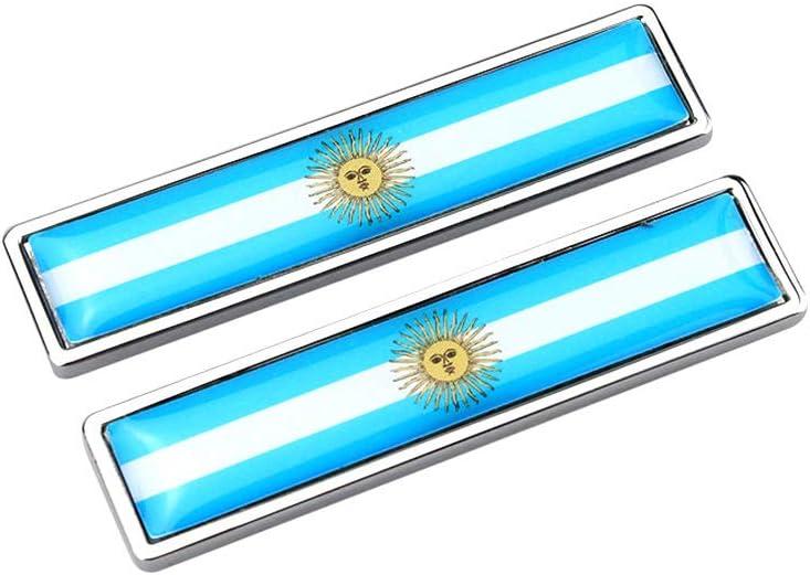AzuNaisi 1pair la Bandera Nacional del Metal Etiquetas Multi usos Pegatina de la Bandera Chrome Adhesivos Creativas Emblema de la Bandera Etiquetas (Argentina): Amazon.es: Coche y moto
