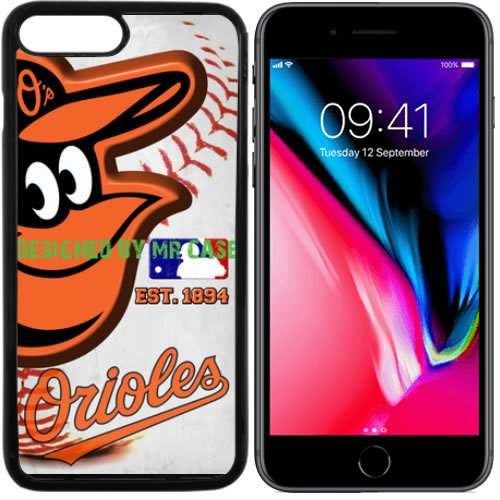 Orioles Baltimore Baseball New Black Apple iPhone 8 Case By Mr Case - Baltimore Orioles Case