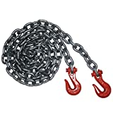 Vulcan Classic Grade 80 Heavy Duty Binder Chain With Clevis Grab Hooks - 12,000 lbs. Safe Working Load (1/2'' x 16')