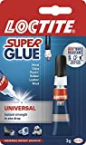 Loctite Super Glue Universal / Extra strong liquid glue for metal, ceramics, plastic, rubber, leather, wood / 1 x 3g tub
