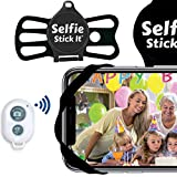 Selfie Stick It, Hands-Free Mount - Wrap it, Stick it, Click it - from Inventor of The Selfie Stick - Universal Anti Gravity Phone Case That Sticks to Any Surface - Wireless Bluetooth Remote (Black)