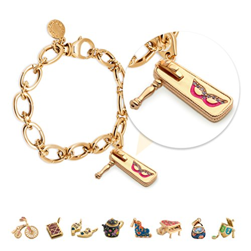 Charmulét Jewish Charms Bracelet with Purim Gragger Charm, 14k Gold Plated, for Women Teens and Girls with Gift Box Gragger