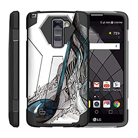 TurtleArmor   LG Stylus 2 Case   LG G Stylo 2 Case   Stylo 2 V [Dynamic Shell] Absorber Impact Shock Cover Protector Silicone Hard Kickstand Music Design - Artistic Music (Lg Dynamic 2 Phone Case Camo)