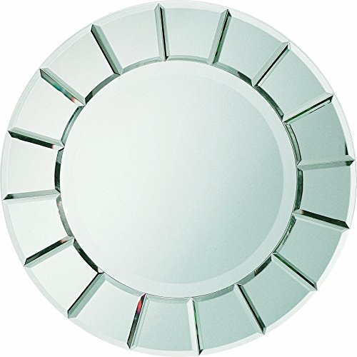 Coaster Contemporary Clear Round Sun-Shape Wall Mirror