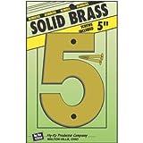 HY-KO PROD Solid BRS Number 5, 5'' (BR-50/5)