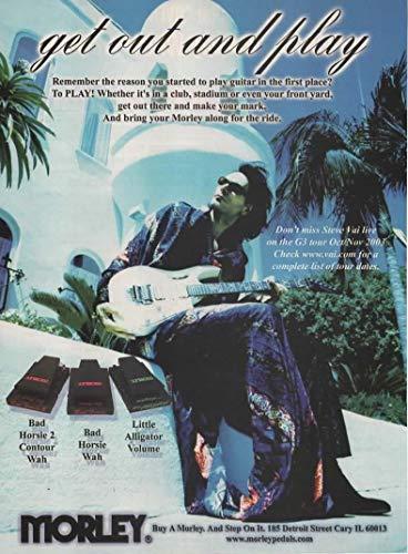 (Magazine Print ad: 2003 Steve Vai for Morley Volume pedals, Bad Horsie Contour Wah, Bad Horsie Wah, Little Alligator,