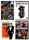 George Clooney Movies DVD - Ocean's Eleven/ Ocean's Thirteen/ Michael Clayton/ The Perfect Storm/ The American/ Leatherheads