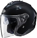 HJC Solid Adult IS-33 II Cruiser Motorcycle Helmet - Black / Large