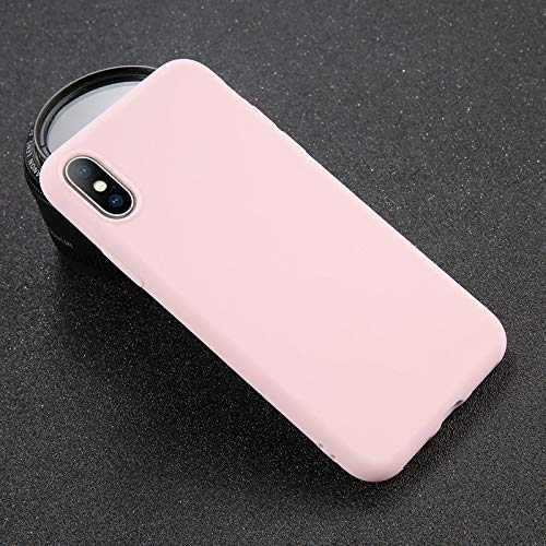 (Fitted Cases - Phone Case For Iphone 7 6 6s 8 X Plus 5 5s Xr Xs Max Simple Solid Color Ultrathin Soft Tpu Case Candy Color Back Cover - For Iphone Xr Pink - Fancy Elves Wall Charger Bear )