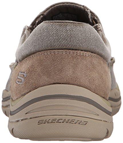 scarpa Casual Avillo previsto scivolare uomo beige sulla Skechers dOtYwqng5q