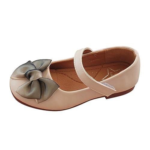 434ef7222b67b Tenthree Bambine Ragazze Mocassini Ballerina - Bowknot Principessa Bambino  Neonate Mary Jane Scuola Pelle Dolce Piatto