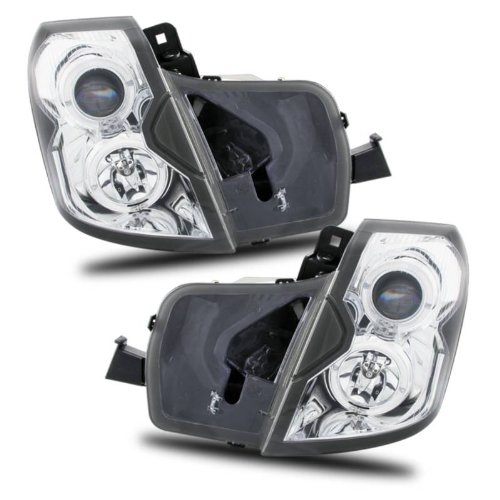 SPPC Projector Headlights Halo Chrome For Cadillac CTS - (Pair) (Halo Headlights Cadillac Cts)