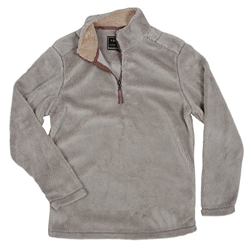 True Grit Men's Pebble Pile 1/4 Zip Pullover, Faded Heather, Large (Frosty Pebbles)