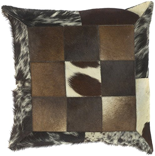 """Surya Trail Down Fill 18"""" Square Pillow in Black and Green"""