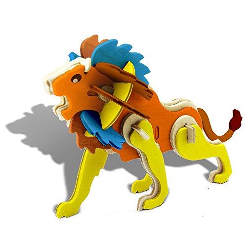 Assemble Paint Woodcraft Animal Puzzle