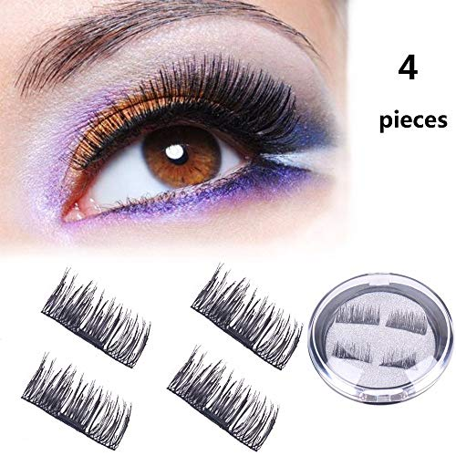 7e0d7f4dbf6 CINIDY 4x Magnetic Eyelashes Dual Magnet Glue-free 3D Comfortable & Secure Reusable  Full Size