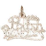 14K Rose Gold Polish Princess Pendant Necklace - 18 mm