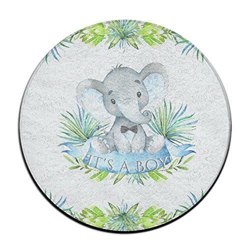 Sppmet Elephant Baby Door Bathroom Rug, Coral Fleece Non-Slip Soft Absorbent Bathroom Kitchen Floor Mat Carpet (23.6