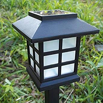Liquidación! WATOPI - Juego de 2 luces LED solares para exteriores para jardín, montaje en pared, luces LED automáticas para camino: Amazon.es: Iluminación