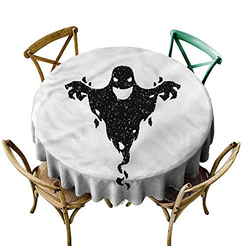 familytaste Scary,Printed Tablecloth Halloween Black Ghost Spooky D 50