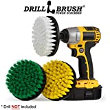 House Cleaning - Kitchen Tools - Shower Cleaner - Bathroom Accessories - Drill Brush - All Purpose Spin Brush Cleaning Kit - Stove-top, Oven Rack, Sink, Tile and Grout - Shower Door - Glass Cleaner