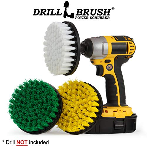 - House Cleaning - Kitchen Tools - Shower Cleaner - Bathroom Accessories - Drill Brush - All Purpose Spin Brush Cleaning Kit - Stove-top, Oven Rack, Sink, Tile and Grout - Shower Door - Glass Cleaner
