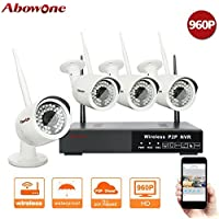 ABOWONE Wireless Security Camera System Outdoor or Indoor with Four 720P WiFi IP Cameras with Night Vision Easy Remote Access