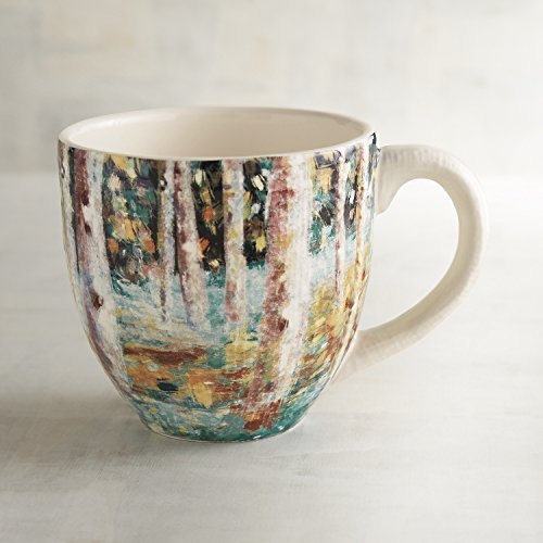 Pier 1 Imports Teal Birch Tree Mug (1 Pier Imports)