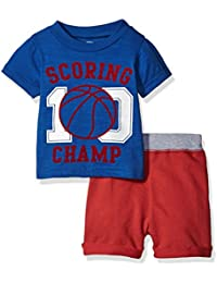 Baby Boys' 2 Pc French Terry Set With Short Sleeve Top