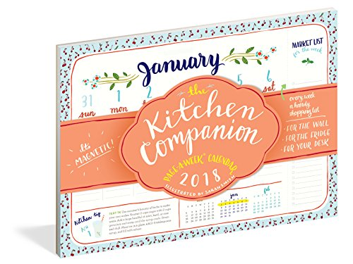 The Kitchen Companion Page-A-Week Calendar 2018 (Best Star Rating Fridge)