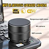 WiFi HD Camera Mini Bluetooth Speaker Wireless Video Recorder,4K 1080P by Aoile