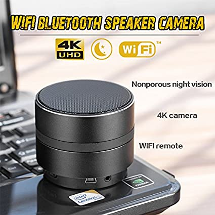 Amazon.com: Accreate Protable 4K 1080P WiFi HD Camera Mini Bluetooth Speaker Wireless Video Recorder: Electronics