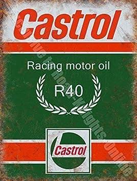 RKO Castrol R Carreras Aceite DE Motor, 200 Gasolina Antigua Vintage Garaje Metal/Cartel para Pared de Acero - 30 x 20 cm: Amazon.es: Hogar
