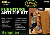 Hangman Anti-Tip Kit to Prevent Furniture Falling-Steel (TK-400-6)