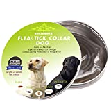 Dog Flea Treatment Collar - Hullovota Flea and Tick Prevention for Dogs, Adjustable Flea Collar for Dogs Small Prevents and Removes Fleas, Ticks, Lice and Mosquitos in 24 Hours Flea and Tick Collars for Dogs Large