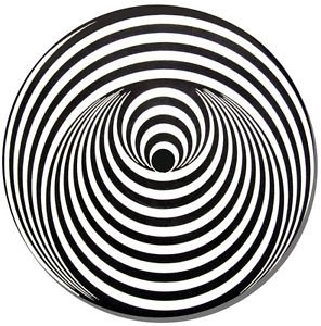 Vertigo Swirl Record Label Round Mouse Mat Vinyl Fan