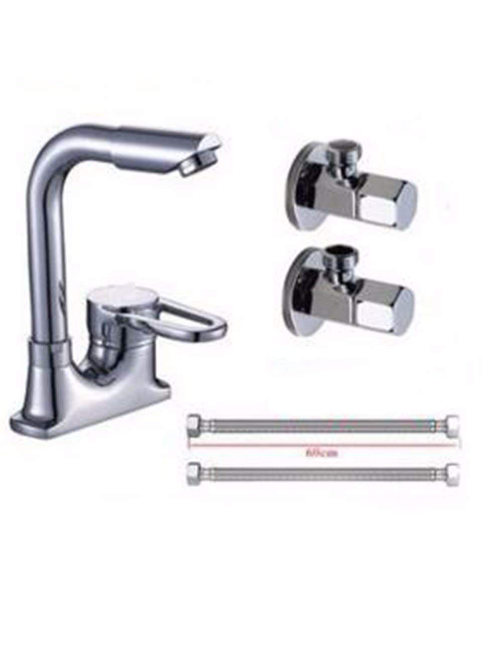 Basin Mixer Tap Bathroom Sink Faucet The copper 2-hole basin mixer, you can rotate the hot and cold basin faucet, washing his face lowered basin faucet,C (Color : A)