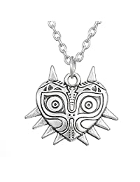 Wiccan Majora's Mask Pewter Legend of Zelda LUCK Pendant Necklace Jewelry