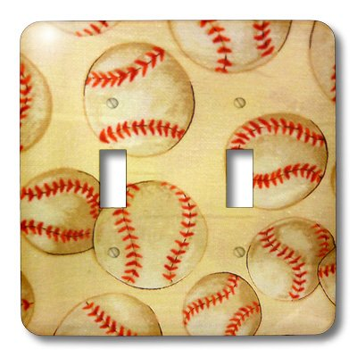 3dRose LLC lsp_16371_2 Baseball Fever, Double Toggle Switch