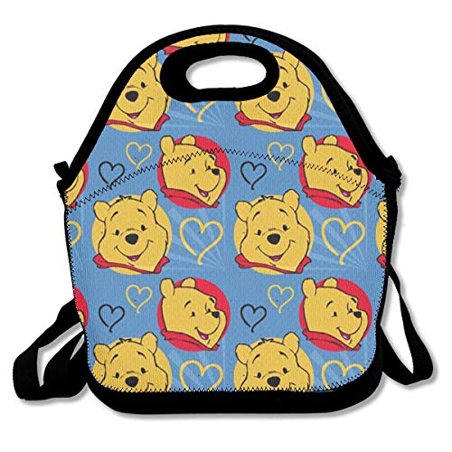 - LIUYAN Personalized Lunchbox Winnie The Pooh Love Mom Bag for Adults and Kids