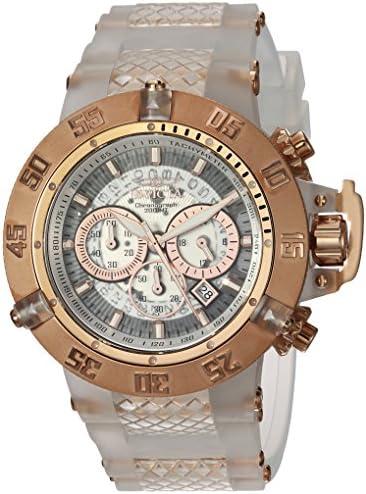 Invicta Men s Subaqua Stainless Steel Quartz Watch with Silicone Strap, White, 29 Model 24362